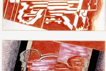 Descendiendo Rojo-Gris (Bocetos) (1968)