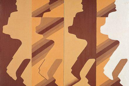 Peatones Geométricos Dúplex Ocre (1968)