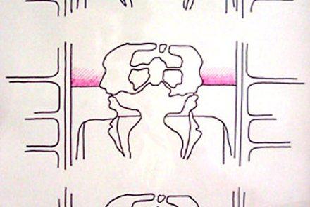 Tres Cabezas Dobles Con Horizontes Malvas (1967)