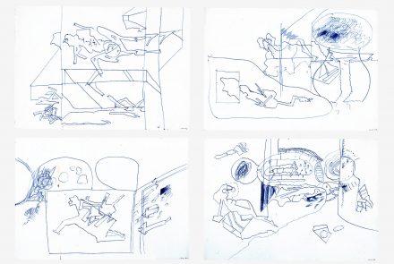 Cuatro Dibujos de Nadadores (1969)